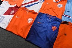 Holland Football Shirt Collection (iptings) Tags: holland netherland cruyff gulit rijkaard vbaster bergkamp kluivert seedorf davids sneijder robben vpersie adidas lotto nike