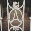 Allerton Park formal garden iron gate monogram designed by architect Borelli c 2017 (RLWisegarver) Tags: piatt county history monticello illinois usa il