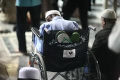 From PAKISTAN with PAIN (N A Y E E M) Tags: oldman pilgrim pakistani dsabled wheelchair night holymosque alharam medina almadinah ksa saudiarabia light availablelight atmosphere prayers isha sooc raw unedited untouched