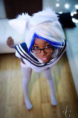 .:Psychetan:. (JustGeraldMedia) Tags: justgeraldmedia pawstar rabbitgirl sukumizu swimsuit psychetan thighhighs thigh rabbit glasses socks