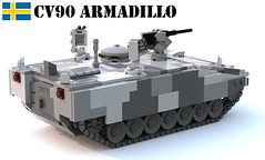 CV90 Armadillo (Matthew McCall) Tags: lego war sweden swedish bae systems hägglunds cv90 armadillo moc military army armored personnel carrier apc