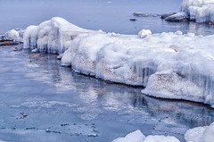 icy rocks (veras_city) Tags: ice winter georgianbay water rocks blue iclcles