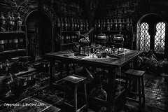 The Wizards Potion Room (Holfo) Tags: harrypotter potions window blackwhite monochrome nikon d750 hdr