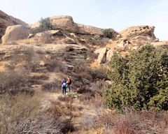 011 Debate On Which Nook To Search (saschmitz_earthlink_net) Tags: 2018 california orienteering vasquezrocks aguadulce losangelescounty laoc losangelesorienteeringclub