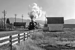 Afternoon Arrival in Heber City (jamesbelmont) Tags: deercreekscenicrailroad hebercity utah unionpacific steam coal 280 baldwin 618 santaclausexpress