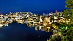 Kreta - Agios Nikolaos; Κρήτη, Άγιος Νικόλαος (FBK1956) Tags: 2017 agiosnikolaos griechenland kreta nacht night voulismeni voulismenisee
