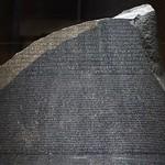 Hieroglyphic script on Rosetta Stone thumbnail
