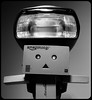 Danbo the Flash. . . (CWhatPhotos) Tags: cwhatphotos mono monochrome black white danbo danboard dambo light amazon toy pics pictures picture image images copy right foto fotos that have with which contain photo photos ask dark shadow shadows shadowed alone canon flash below