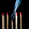 Burned out Matchstick (roseysnapper) Tags: macromondays nikkor105mmmicrof28 nikond810 blackbackground depthoffield hmm macro matchstick smoke stick squareformat