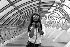 Fury (Daniel Nebreda Lucea) Tags: woman mujer people gente girl chica drama fury furia emocion emotion black white blanco negro monochrome monocromo monochormatic monocromatico texture textura light luz shadow shadows sombras portrair retrato street calle ciudad city urban urbana beautiful pretty guapa bonita ella she grasses gafas sol atmosphere atmosfera canon 60d 50mm