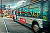 OCTranspo On The Job - Ottawa 12 17 (Mikey G Ottawa) Tags: mikeygottawa canada ontario ottawa street city perspective driveby bus transit octranspo trafficlight redlight red