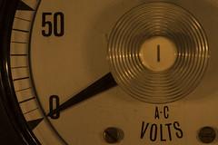 The power's out... -[ HMM ]- (Carbon Arc) Tags: macromondays litbycandlelight candle tea light flame voltmeter volt meter instrument gauge zero power mains outage blackout electricity energy out failure