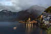 Hallstatt Day to Night (Jacob Surland) Tags: art austria caughtinpixels clouds country daytonight elevatedview fall fineart fineartphotography hallstatt hallstättersee highrise highangleview historic historiccentre jacobsurland lake landscape light reflections timecompressed travel traveldestination travelandtourism tree trees unescoworldheritagesite warmlight water