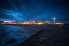 Anochecer en Rota (Javier Martinez de la Ossa) Tags: andalucía cádiz españa faro javiermartinezdelaossa ocaso playa puestadesol rota sunset horaazul