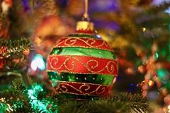 Merry Christmas! (Read2me) Tags: christmas ornament tree red green glass decoration friendlychallengewinner pree cye 15challengeswinner challengeclubwinner gamesweepwinner thechallengefactory