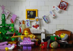 Katana Carnage (captain_joe) Tags: toy spielzeug 365toyproject lego minifigure minifig moc weihnachten christmas baum postcards