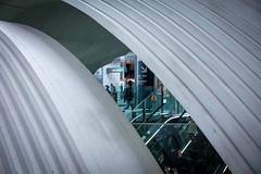 perspective gaze (mntkondr) Tags: japan tokyo shibuya x100f fujifilm fuji station architecture shell concrete tadao ando escalator