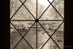 Covered Bridge Window (Back Road Photography (Kevin W. Jerrell)) Tags: emertscoveredbridge coveredbridges nikond7200 winter snow snowcovered backroadphotography seviercounty tennessee pittmancenter windows