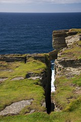 Way Down in the Hole (4oClock) Tags: orkney nikon d90 18105 nikkor islands scotland britain uk north archipelago birsay historicscotland history broch brough pictish norse settlement fort ruins ancient rock island causeway tidal atlanticocean