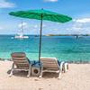 DSC_0487 (deborahb0cch1) Tags: beach sea ocean water parasol colours summer holiday sunbeds tropicalbeach tropics tropical sand sky perspective bay thailand kohphiphi relax
