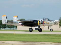 N2825B North American RB-25 Mitchell (Miss Hap) (johnyates2011) Tags: oshkosh eaaairventure oshkosh2017 northamericanb25mitchell northamericanb25 northamerican n2825b misshap