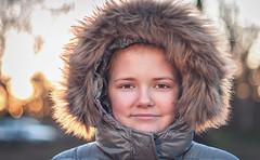 Wrapped up. (Matt_Briston) Tags: sunset bokeh hood furry cold blickling nikon d90 matt cooper