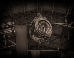 It's About Time (writing with light 2422 (Not Pro)) Tags: clock thearmory seattle washingtonstate bw richborder sonya77
