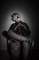 Hyvää joulua ja onnellista uuttavuotta T:Mustapukki (valogra17) Tags: lights lightpainting christmas xmas longexposure selfportrait portrait student photography photographer joulu santaclaus joulupukki clown mask costume dark humor gangsta thuglife kaksoispistedee