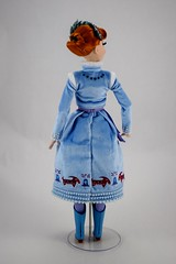2017 Anna Limited Edition 17 Inch Doll - Olaf's Frozen Adventure - Disney Store Purchase - Deboxing - Removed from Backing - Plastic Supports Removed - Full Rear View (drj1828) Tags: disneystore limitededition doll 17inch frozen olafsfrozenadventure collectible 2017 anna purchase deboxing