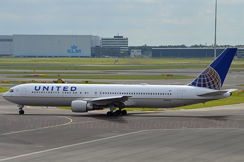 United Airlines N648UA Boeing 767-322ER cn/25285-443 @ EHAM / AMS 29-06-2016
