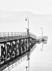 8092-2sm (torriejonvik) Tags: pier water cove deep pacific northwest north vancouver lights fog boat