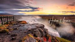 [IMFP2848And7-pp-fkr ] Morgunn í gulfoss (JW Hisham Marmin) Tags: hishammarmin hishammarmincom pentaxk1 hdpentaxdfa1530mm k1 iceland gulfoss waterfall ice glacier blue landscape seascape sky cloud nature highdynamicrange hdr dri leefilter raymaster sunset waves rock sea water beach pentax photography images autumn