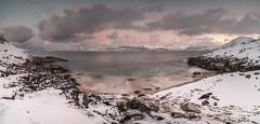 Gjalvika beach II (joaquinain) Tags: clouds nubes playa beach norway tromso longexposures largaexposición olympus omd em12 laowa panorámica pano
