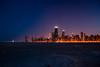 City Glow. (2Mac) Tags: cityglow highrise construction crain oakstreetbeach sand tripod afterdark navypier searstower hancock 1855mm 18mm downtown beach skyline chicago kitlens d80 nikon