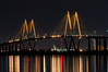 Fred Hartmann On The Water (Matt D. Allen) Tags: cablestayed bridge houstonshipchannel moon moonlight houston texas night long exposure