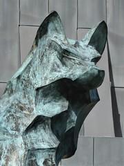 San Francisco, CA, University of San Francisco, Library and Geschke Center, Bronze Wolf Sculpture Detail (Mary Warren 13.5+ Million Views) Tags: sanfranciscoca universityofsanfrancisco architecture building school jesuit university education art sculpture bronze wolf