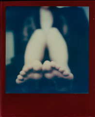 Untitled (Blackhur.st) Tags: film analogue instant integral polaroid tip theimpossibleproject slr680 lucky8 colour anonymous longexposure feet toes soles feels