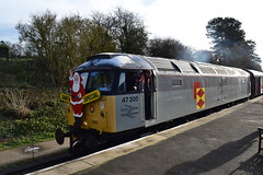 47205 by 47424 - Northampton and Lamport railway