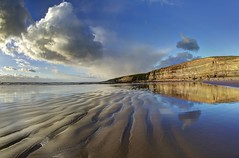 Demons dance alone (pauldunn52) Tags: southerndown dunraven beach glamorgan heritage coats wales sand wet reflections cliffs clouds