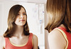 88621441 (evolutionlabs) Tags: 1213years brunette casualclothing caucasian closeup colorimage confidence curiosity day domesticlife frontview girl headandshoulders horizontal identity indoors kent lifestyle mirror onegirlonly oneperson people photography preadolescentchild reflection selfesteem serious sideview staring tunbridgewells unitedkingdon vanity viewing