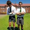 5 (cane4u) Tags: boy boys schoolboy schoolboys teenage teenager school uniform grey shorts socks tie blazer spanking headmaster discipline corporal punishment cp cane caning strap tawse paddle birch