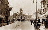 Worthing (footstepsphotos) Tags: worthing sussex town hall south street clock tower cycle people old vintage postcard past historic