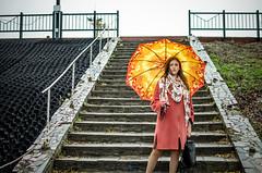 Daria Gladchenkova (ivan_volchek) Tags: people outdoors travel traveling visiting step umbrella nature sky summer water sun portrait beautiful walk vacation embankment stairs bryansk riverdesna heels
