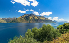 On the way to Queenstown (redfurwolf) Tags: newzealand queenstown mountain lake sky clouds outdoor nature water trees landscape ngc blue green nz redfurwolf sonyalpha a7r sony
