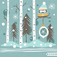 Snow Owl (hangtightstudio) Tags: design designer surfacedesign surfacegraphics graphic graphicdesign greetingcard printpattern artlicensing illustration illustrations kidsdesign kidsprints christmas christmasprint christmascard holiday holidays holidaycard owl winter create dowhatyoulove heatherdutton hangtightstudio