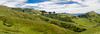 On the Farm (Ron Scubadiver's Wild Life) Tags: stitched pano landscape grass hills sky clouds nikon south island new zealand dunedin 50mm