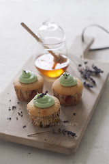 lavender & honey cupcake (asri.) Tags: 2017 baking homemade foodstyling foodphotography onwhite 85mmf14