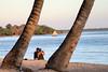 the unenviable position of the lone traveller (againandagain251) Tags: bayofpigs playalarga cuba beachholiday palmtrees calmscene calmwater tropicalbay sunburn photoopportunity kodakmoments youngcouple