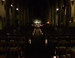 St Peter's Church candles at night, Winchester (Pjposullivan1) Tags: candles nave crib tabernacle altar chancel sanctuary nativity stpeterschurch gothicrevivalarchitecture catholicchurch winchester christmas advent