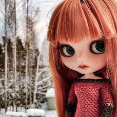 Have a wonderful Christmas day! 😘❤🎅 #blythe #customblythe #doll #customdoll #crochet #crochetdollclothes #grannysquare